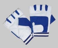 Bronx Wild Bull Blue Spandex Gloves