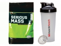 Optimum Nutrition Serious Mass 12 lbs & Free Shaker